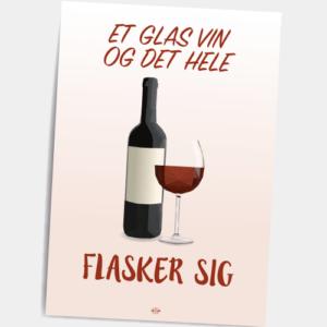 Postkort_et_glas_vin_og_det_hele_flasker_sig