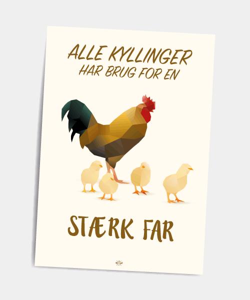Postkort_alle_kyllinger_har_brug_for_en_staerk_far