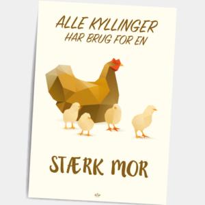 Postkort_alle_kyllinger_har_brug_for_en_staerk_mor