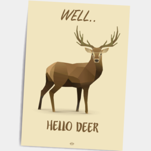 Postkort_well_hello_deer