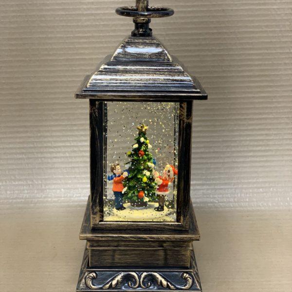 juletræ guld lille