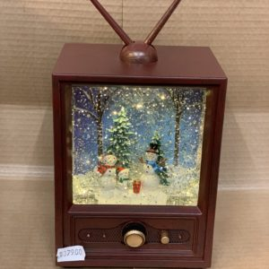 Julelanterne tv m. snemand