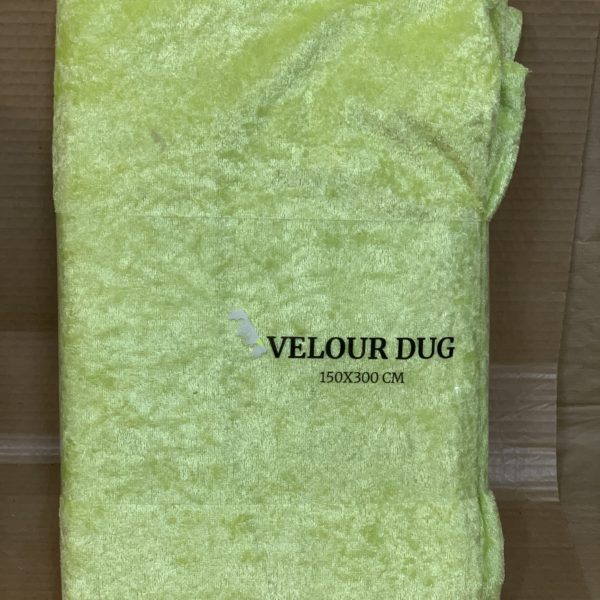 Velour dug lime grøn